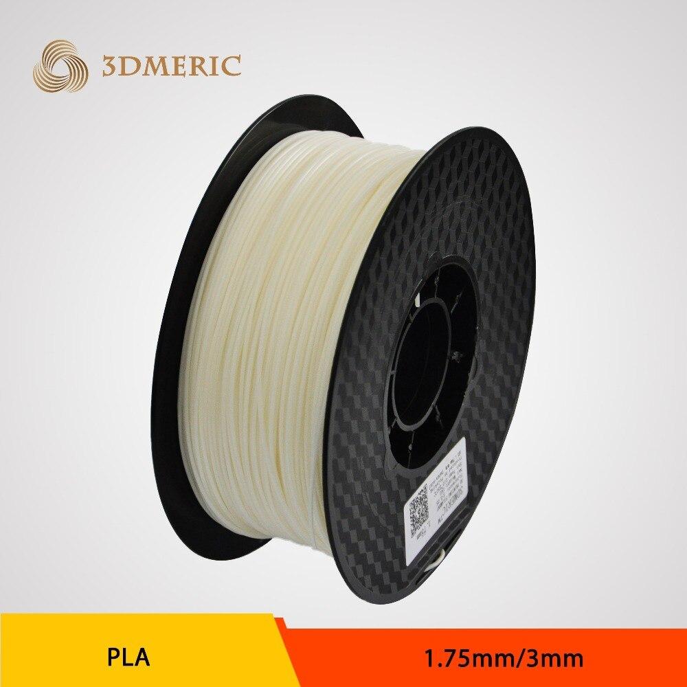 Semi transparent Natural PLA Filament for 3D Printer 1.75mm 3mm 1kg (2.2lb)/spool<br><br>Aliexpress