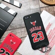 Iphone 5 5s Se 6 6plus 6s Plus 7 7plus 8 10 X Case Sports Air Jordan 23 Chicago Bulls Silicone Phone Cover Cases Capa Coque