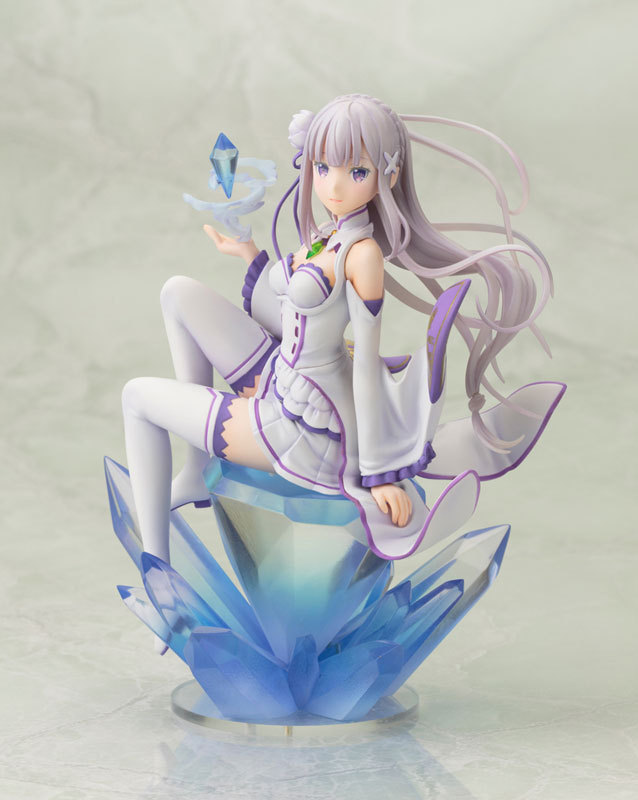 1pcs anime 1/8 scale Life in a different world from zero EML/Emilia hand on diamond action pvc figure toy tall 17cm<br>