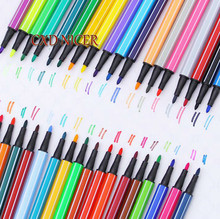 12 Different Colors Strip Candy Style Sketch Marker Pen Water Based Assorted Ink Arts Drawing Graffiti Hook Fiber Pen DD615(China)