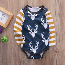 Deer Baby Girl Bodysuit Long Sleeve Newborn Infant Bodysuit Baby Boy Body Girls Bodie Clothes For Boys Baby Bodysuit For Babies