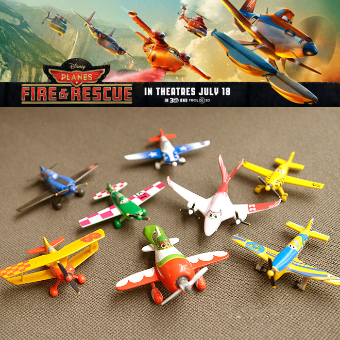 1pcs Pixar Planes Fire and Rescue Dusty Crophopper Skipper lear fan2100 Leadbottom Bulldog 3D Movie Mini Baby Toy For Children<br><br>Aliexpress