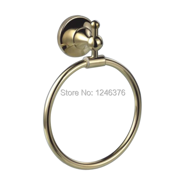 Free Shipping Brass gold Towel Ring,Towel Holder, Towel Bar Bathroom Accessories<br>