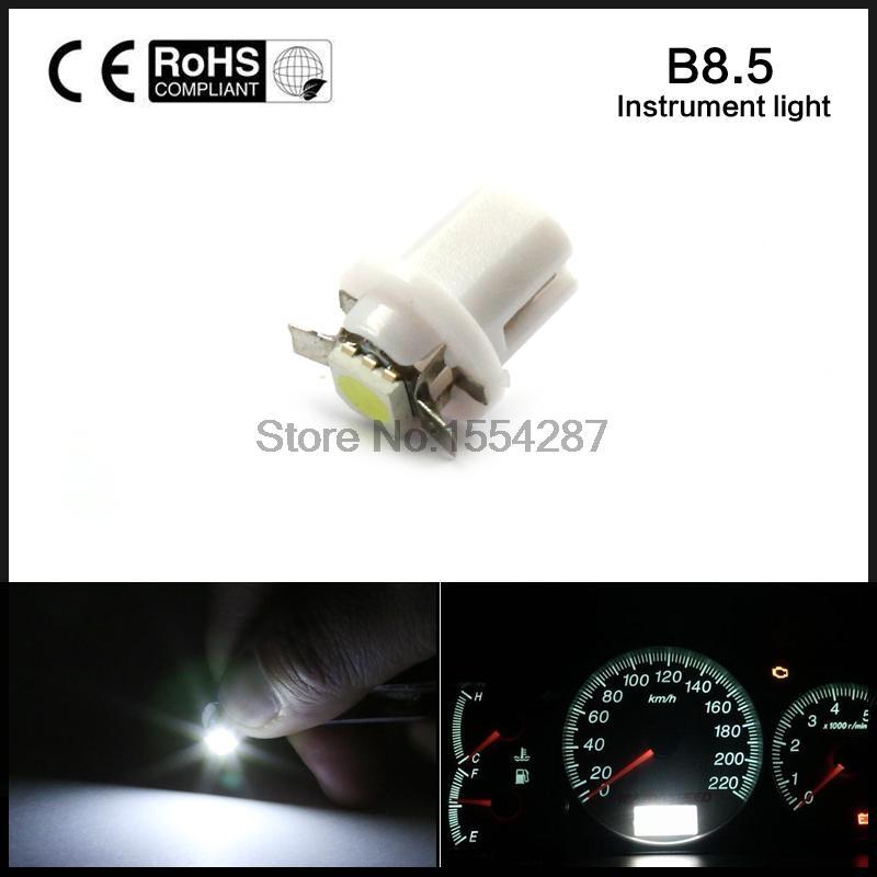 10PCS/LOT B8.5d b8.5 509T 5050 Led 1 SMD T5 Lamp Car Gauge Speedo Dash Bulb Dashboard instrument Light free shipping<br><br>Aliexpress