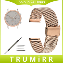 18mm 20mm 22mm 24mm Milanese Watch Band Armani AR Men Women Stainless Steel Strap Wrist Belt Bracelet Black Rose Gold Silver - Mypleasure Watchband Store store