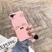 Cartoon Pink Cat Soft Silk Heart Camera Hole Phone Case For Oppo F3 A77 A59 F1s Girls Glitter Phone Back Covers For Vivo V5 V5s