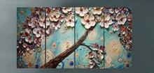 Shenzhen Dafen Wholesale Skilful Artists Handmade Group Flower Knife Oil Painting for Bedroom Hotel Cafe Decoration