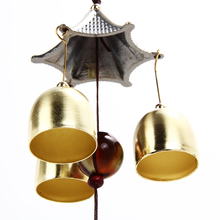 Outdoor Copper 3-Bell Wind Chimes Yard Garden Bells Feng Shui Mascot Blessing for Family/Friends Free Shipping ASLT