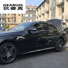 Car styling Auto Side Skirt Car Sticker Side Body Door Decoration Trim Mercedes Benz E Class W212 W213 2014-2017 Accessories
