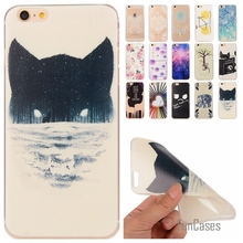 For iphone 6 plus Soft TPU Cute Cartoon Lemon Bike Guitar Tree painted Rubber Back Cover Silicon Gel phone cases for 6 plus