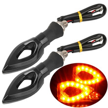 2PCS New INDICATOR AMBER LIGHT LAMP 12LED Motorcycle Turn Signal Light UNIVERSAL BLACK MOTORCYCLE BIKE TURN SIGNAL hot sale