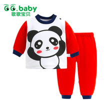 Brand Christmas Suits Cotton Winter Panda Suit Baby Girl Clothing Sets Warm Tops Pants Infant Newborn Baby Boy Clothes Tracksuit(China)