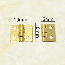 10*8mm 50pcs  mini hinges wooden box copper hinges brass gold hinges for wine jewelry gift box case decorative hinges