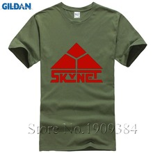 Novelty Skynet Mens T-shirt Cyberdyne Systems Terminator Arnold 80s Tee Shirts Cool Cotton Tops Camiseta Homme Free Shipping(China)