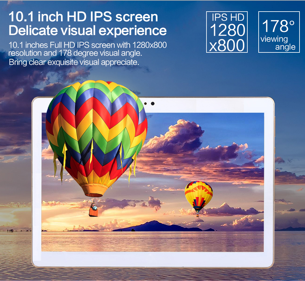 2017 Octa Core 10.1 Inch tablet MTK8752 Android Tablet 4GB RAM 32GB 64GB ROM Dual SIM Bluetooth GPS Android 7.0 10 Tablet PC