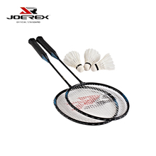 Joerex  2 Pcs Badminton Racket Set Aluminum Shaft Racquet Set- Including 1 Shoulder Bag and 3 pcs Shuttlecocks