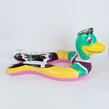 Baby Children Kids Crocodile Duck Shark Safety Swimming Float Inflatable Ring Swim Pool(China)