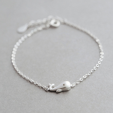 925 sterling silver cute personality simple fresh small dolphin bracelet female student Sen Department of Gui honey birthday gif