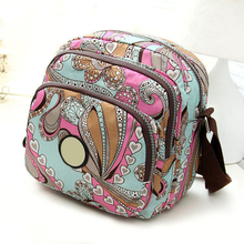 Women Messenger Bags Print Floral Cross Body Shoulder Canvas Hobo Bag Nylon Oxford Fabric Women's Handbag Bolsas Femininas(China)
