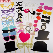 46PCS Photo Booth Props wedding decoration Wedding Party Photobooth props Baby shower Wedding Party Decorations photo booth 2017