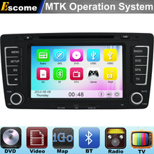 MTK3360 Car DVD Player For VW SKODA OCTAVIA 2012 2013 YETI with 800MHz CPU Bluetooth Radio GPS Navigation