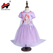 New High Quality Kids Princess Sofia Dress For Baby Girls Snow White Cosplay Costume Children Christmas Party Tutu Dresses