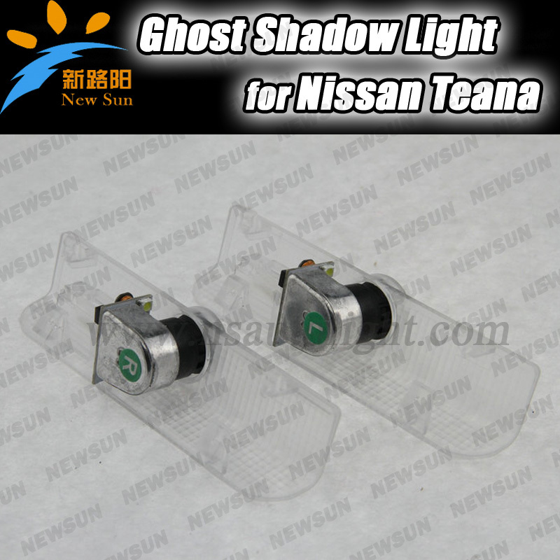 Original position LED car door projector logo lights/ Ghost shadow welcome light for Nissan New Teana Wireless plug and play<br><br>Aliexpress