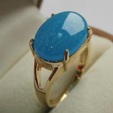 latest design jewelry lady's favorite 18KGP sky blue jades  ring (7,8,9#)