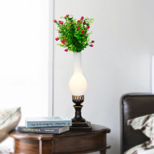 Plant Antique Table Lamps With Clear Glass Shade Desk Night Lamp Metal Garden Style Decor In Office H52cm by 21cm T42
