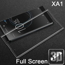 Buy 9H 3D Tempered Glass LCD Curved Full screen protector cover Sony Xperia XA1/XA1 Dual G3121 23 25 G3112 16 Protective film for $2.69 in AliExpress store