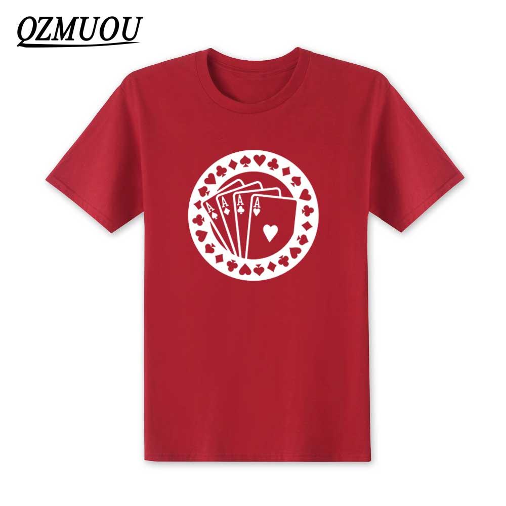 New 2018 Fashion Poker Aces T Shirt Hip Hop Men Skrillex Short Sleeve T Shirt Cotton O-Neck Men Top Tee High Quality Size XS-XXL