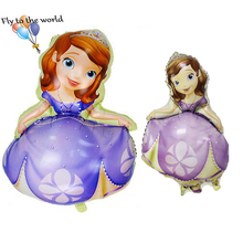 50pcs/lot  Sofia Princess Brand Helium Foil Balloon Kids Birthday Party Home Decoration Kids Gift foil balloon