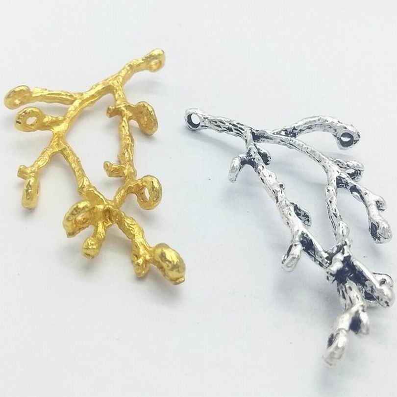 Wholesale 200PCS Alloy Suspension Branch Handmade Crafts Pendants Charms Hanging Jewelry Finding Accessory