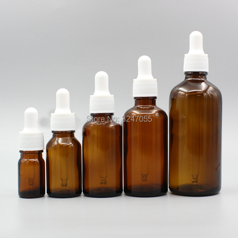 5ml10ml15ml20ml30ml50ml100ml Amer DIY Essential Oil Dropper Vials, Glass Essence Storage Bottle Glass Pipettes, Makeup Tools<br>