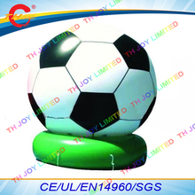 free air shipping,4m/6m Giant inflatable football soccer balloon,outdoor advertising ground air ball(China)