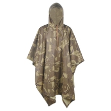 Multifunction Military Desert Camo Color Raincoat Men&Women's Raincover Perfect for Hiking Camping as Poncho Awning shelter(China)
