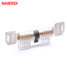 NAIERDI Cutaway Transparent Copper Locks Training Skill Professional Visable Practice Padlocks Lock Pick Locksmith Supplies(China)