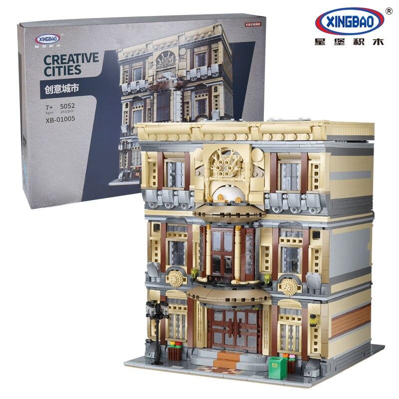 XingBao-01005-5052Pcs-Genuine-Creative-MOC-City-Series-The-Maritime-Museum-Set-Children-Building-Blocks-Bricks