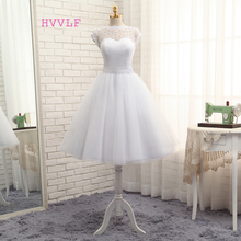 Buy Vestido De Noiva 2017 Short Wedding Dresses A-line Tea Length Tulle Crystals Bow Backless Vintage Wedding Gown Bridal Dresses for $70.98 in AliExpress store