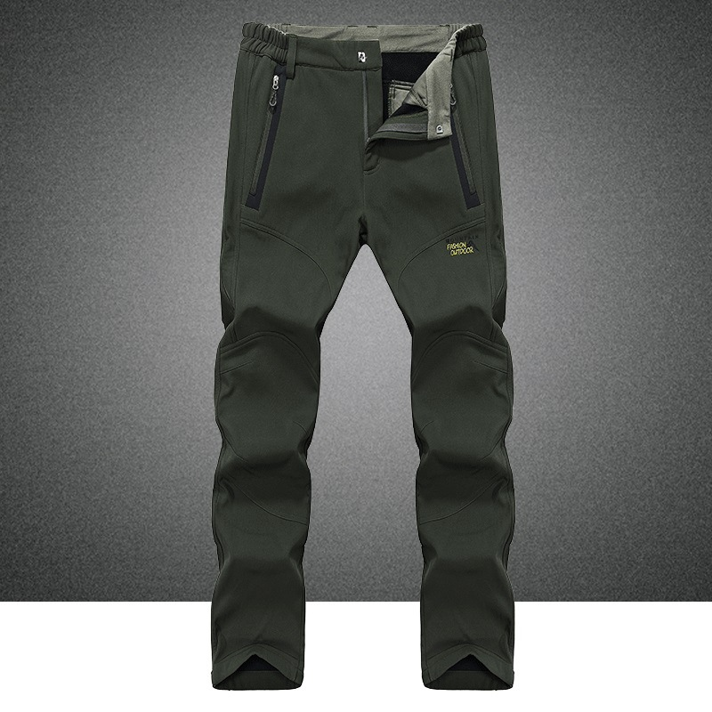2017 New Male Waterproof Wear-resisting Warm Pants Outdoor Climbing Hiking Skiing Travel Man Large Size Fleece Trousers 3 Colors<br><br>Aliexpress
