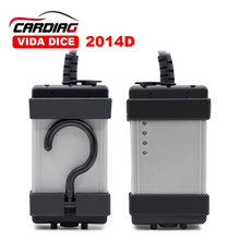 for VOLVO Diagnostic Scanner Latest Version 2014D Multi-language Volvo Vida Dice with Blue Board Free Shipping