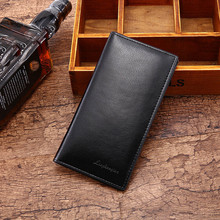 Free shipping fashion wholesale men's Brand name genuine long design Wallet Man Wallet Concise Money Bag Huge Capacity Purse A8