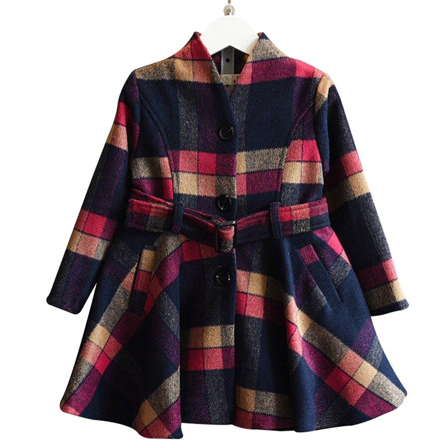 Girls Winter Dress Brand Baby Girls Clothing Kids Dresses A-line Plaid Printed Children Dress Warm Clothes 2-6Y N38568<br><br>Aliexpress