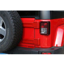 Newest Fashion Rear Door Spare Tire Hinge Cover Trim Exterior Styling ABS Red Silver For Jeep Wrangler 2008 Up Free Ship