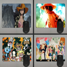 Cute Anime Monkey D Luffy One Piece Series Mouse Mats Anti-Slip Rectangle Mouse Pad Customized Supported Durable Anti Slip(China)
