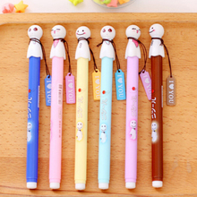 1Pcs  Black Office and School Supplies Gift for Kids Children Students  Cute Japanese Sunny Dolls ballpoint pens Random Colors