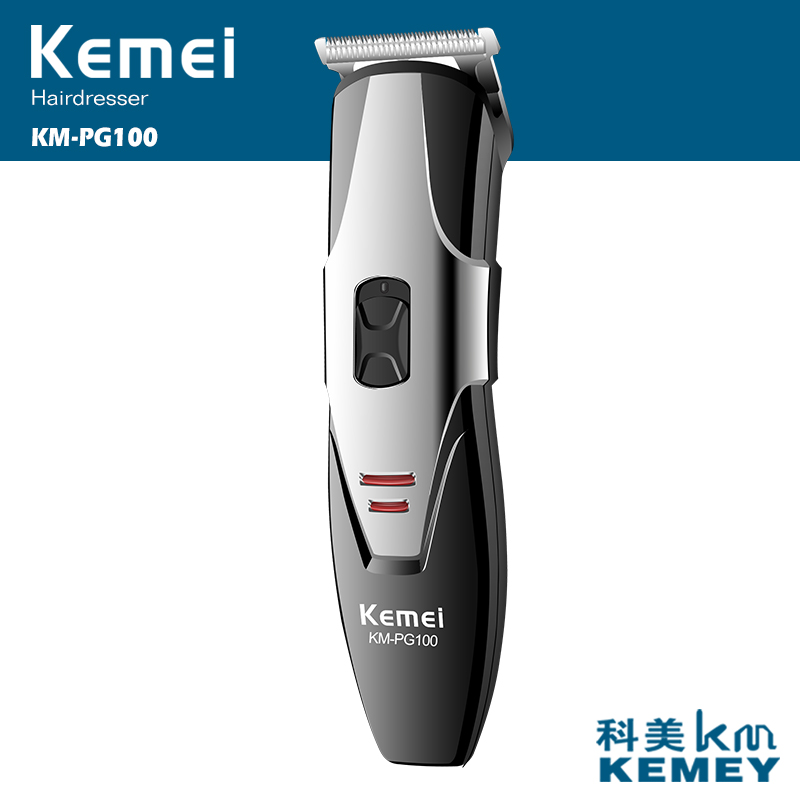 Kemei 2017 New Professional Electric Hair Clipper With Rechargeable Cordless Adjustable Salon Clipper Inside Lithium Battery<br>