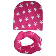 Toddler Kids Baby Boys Girls Soft Cotton Hat Cap+Scarf Scarves Winter Warm Set