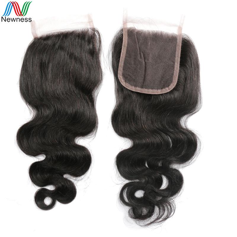 Newness Brazilian Body Wave Lace Closure 1 Piece 4*4 Brazilian Lace Closure Bleached Knots Human Hair Closure<br><br>Aliexpress