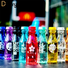 550ml Sport Travel Water Bottle 10 Color Leak-proof Plastic Bottles Portable Lemon For Outdoor Running Camping Drinkware(China)